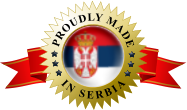 PROUDLY MADE  IN SERBIA